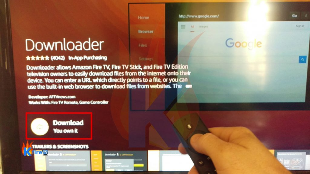 Install Kodi on Fire TV with Downloader App