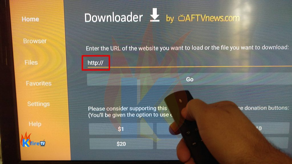 Cyberflix install APK on Firestick