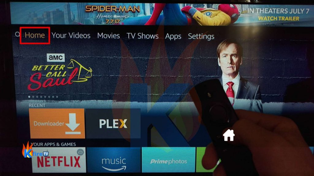 Go to Firestick home screen