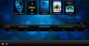 Screenshot of XBMC