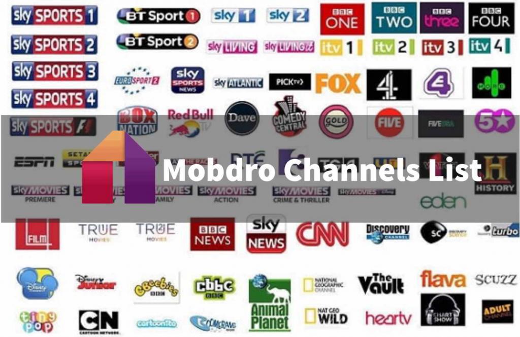 Mobdro Channels List