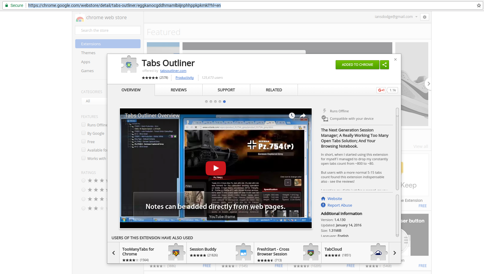 How to Install Tabs Outliner Chrome Extension (to Manage a Ridiculous # of Chrome Browser Tabs)