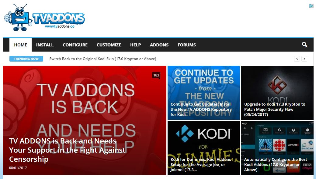 TVAddons Back Online!  Here's How to Install TVAddons Repo (NEW SOURCE)