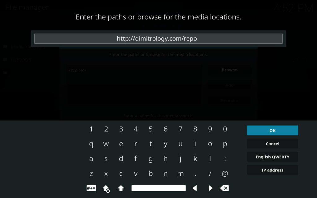 Enter Dimitrology Source URL