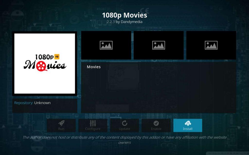 Install 1080p Movies