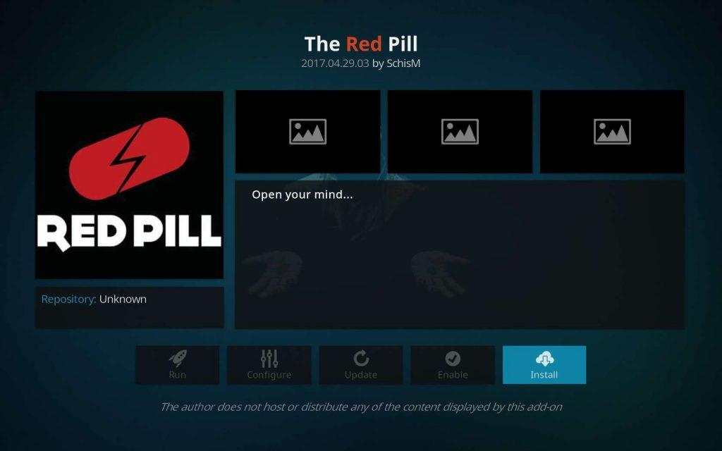 Install The Red Pill Kodi TV Addon