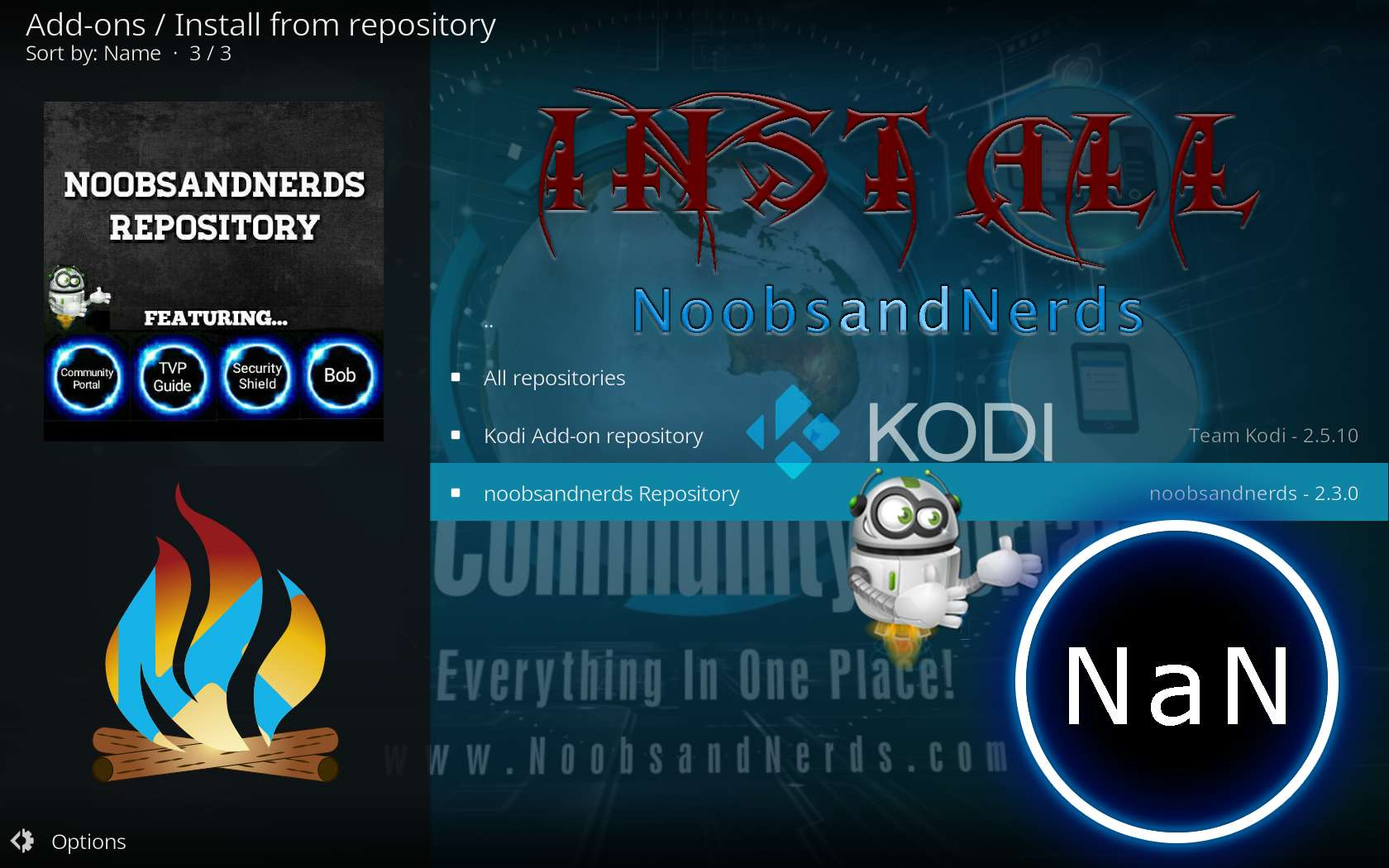 Kodi NoobsandNerds Repo Install Tutorial Guide