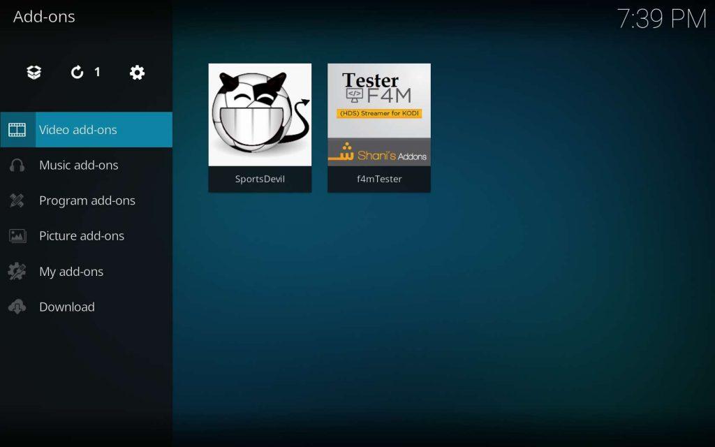 SportsDevil in Kodi Add-ons - Video add-ons