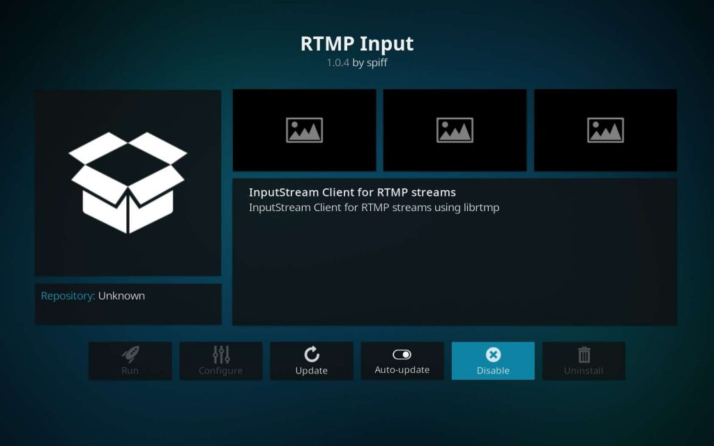 The RTMP Input Addon is Now Enabled