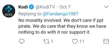 TVAddons court case involving team Kodi's tweet