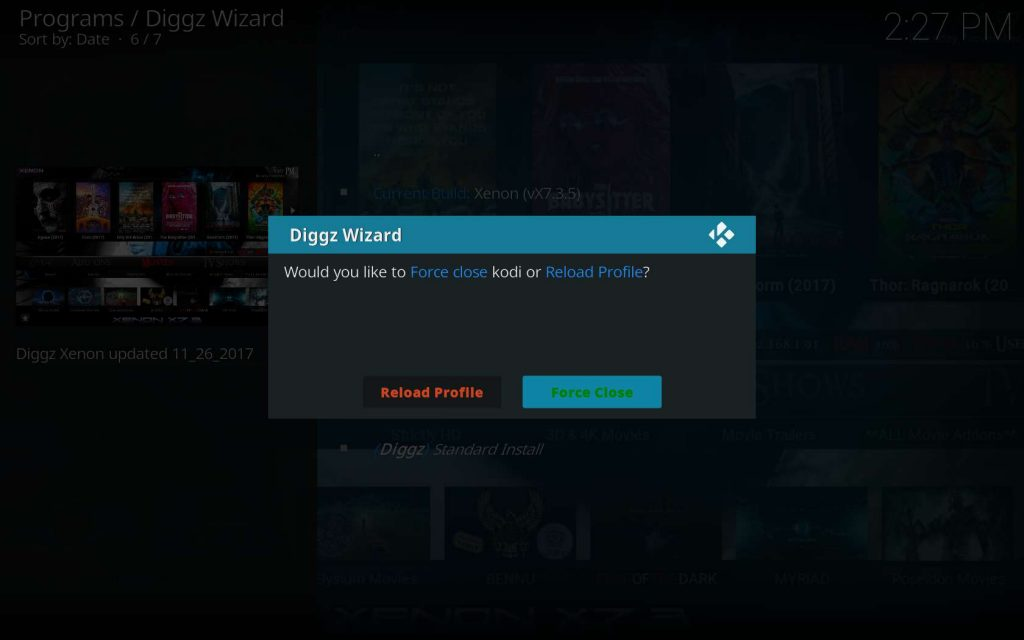 Allow Diggz Wizard to Force Close Kodi