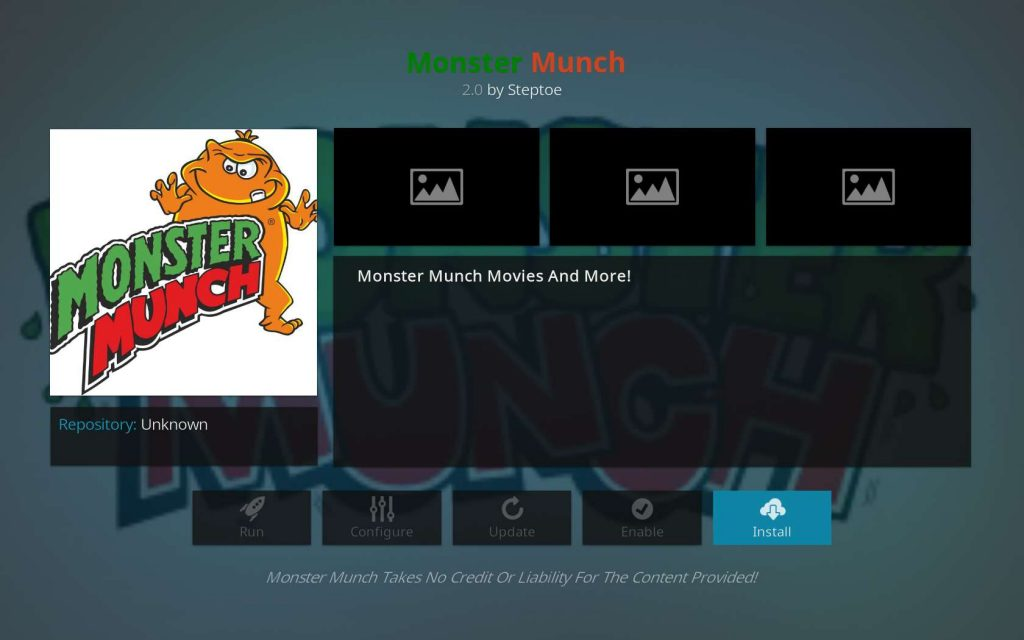 Click to Install Monster Munch