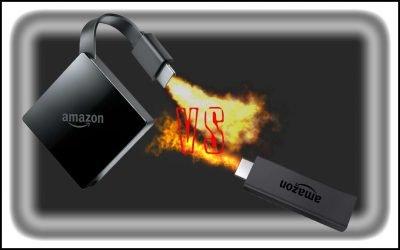 Fire TV vs Fire Stick (Fire TV Stick or Firestick)