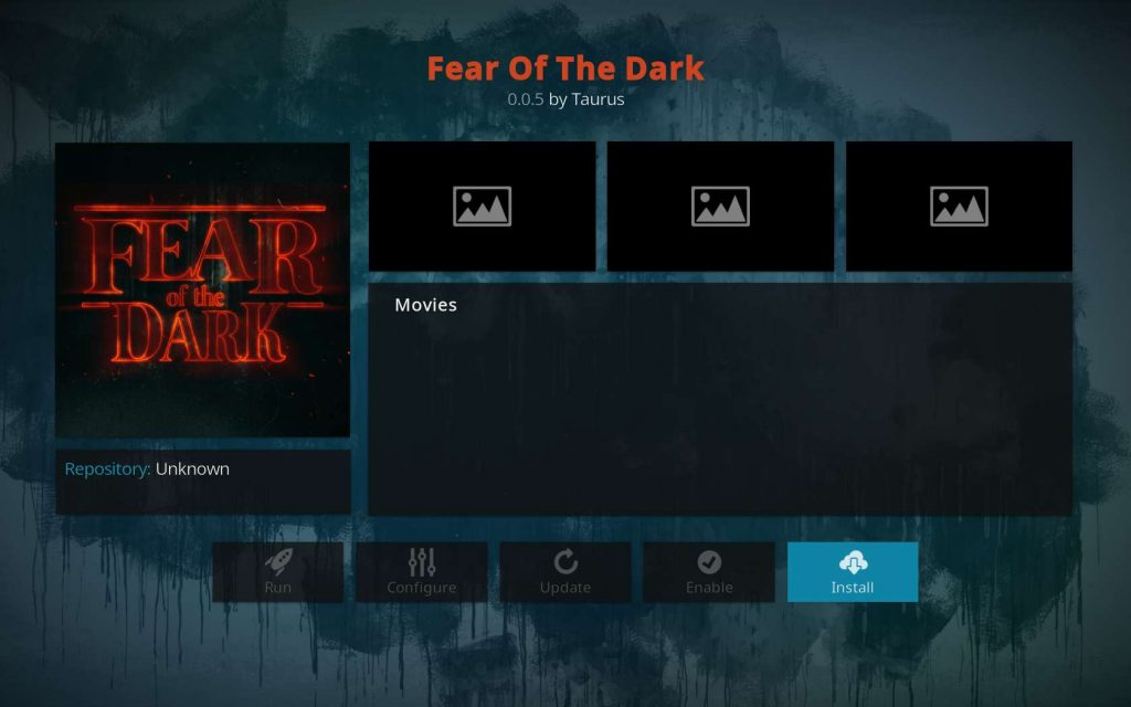 Hit Install for Fear of the Dark