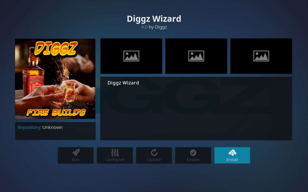 Install Button for Diggz Wizard