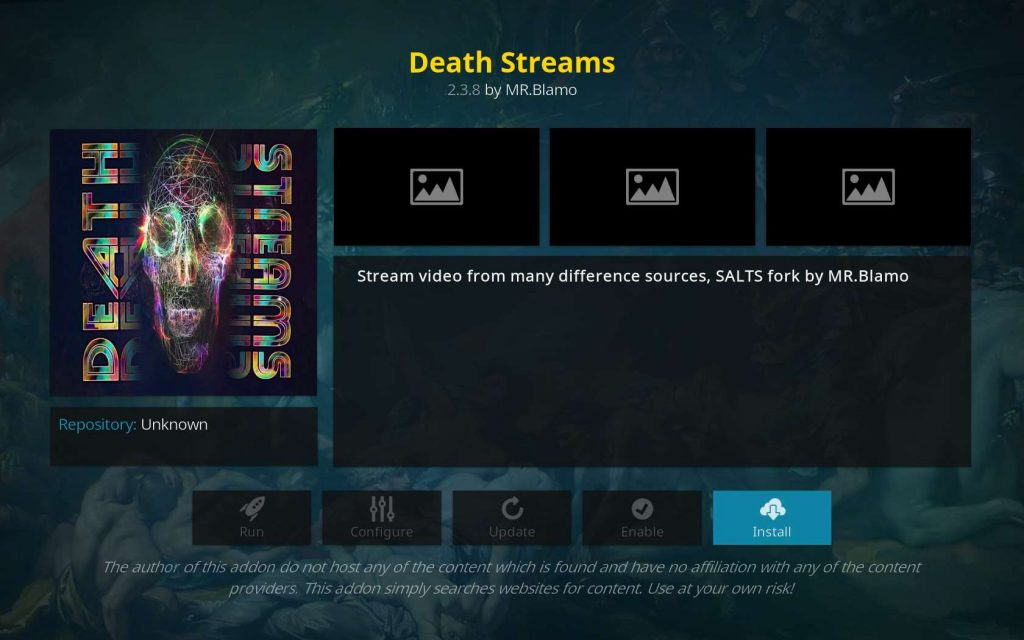 Install Death Streams from Looking Glass