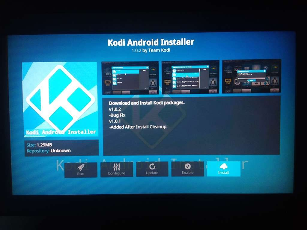 Install Kodi Android Installer