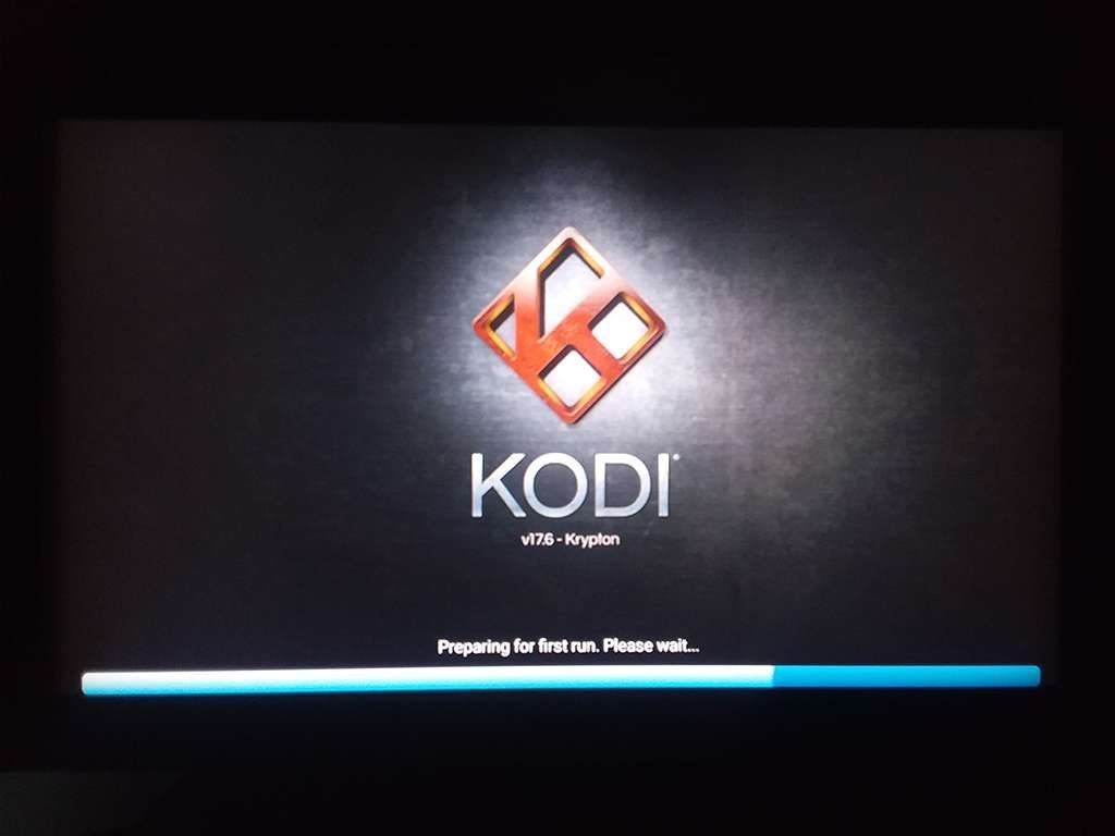 Kodi 17.6 Update Finishes During First Run
