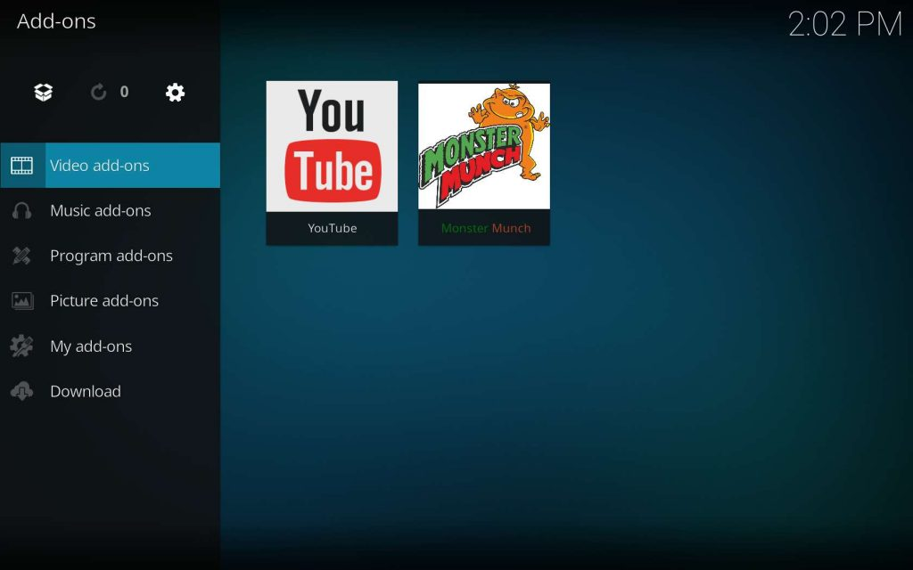 Monster Munch in Kodi Video add-ons