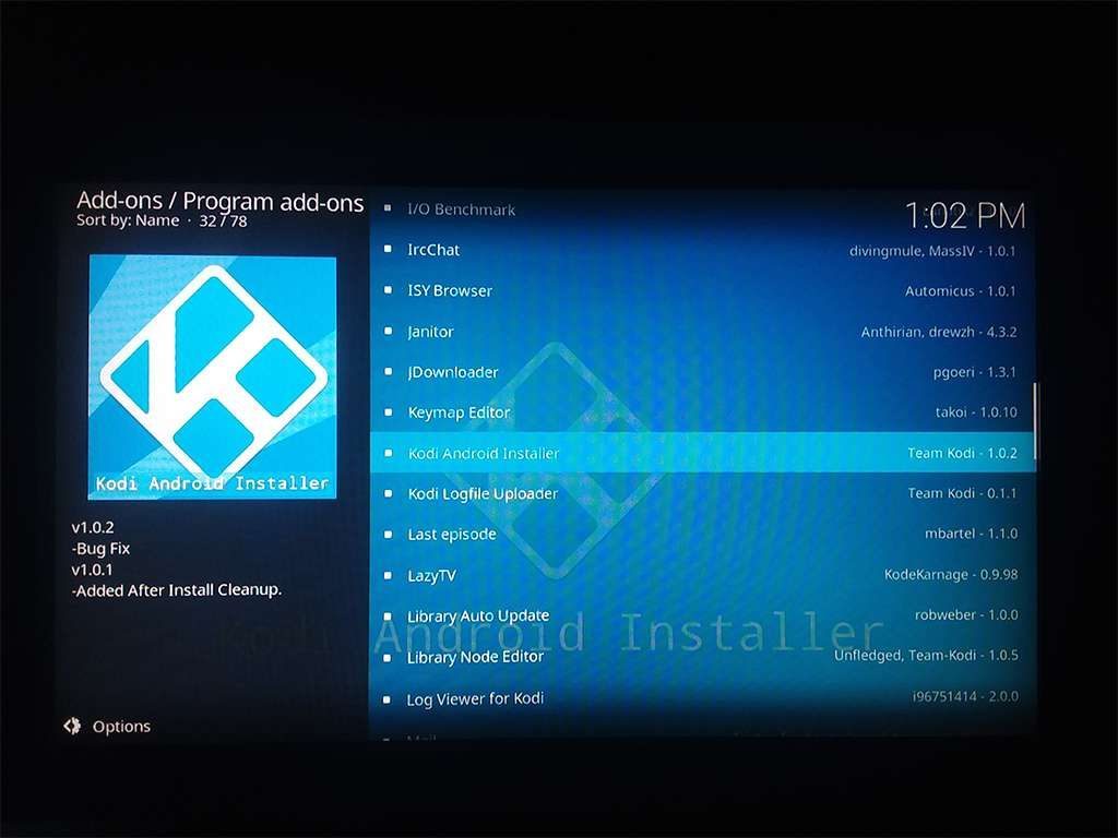 Select Kodi Android Installer