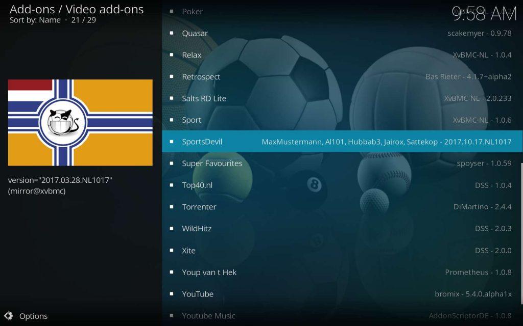 Select SportsDevil For Install
