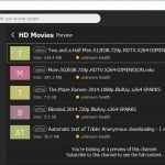 The HD Movies category in Tribler
