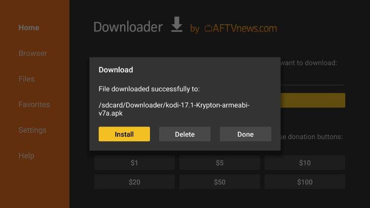 how to install kodi amazon fire