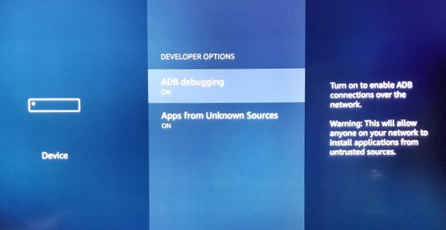 developer options ADB