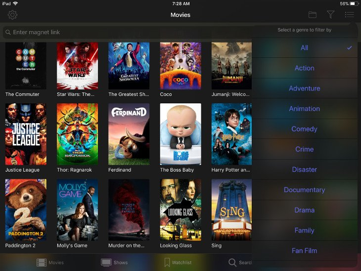 popcorn time ipad apps