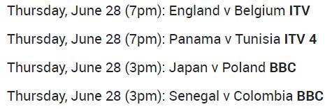 FIFA World Cup Schedule for Firestick