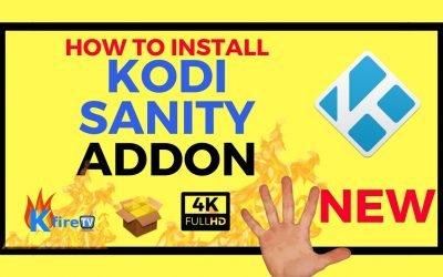 How to Install Kodi Sanity Addon