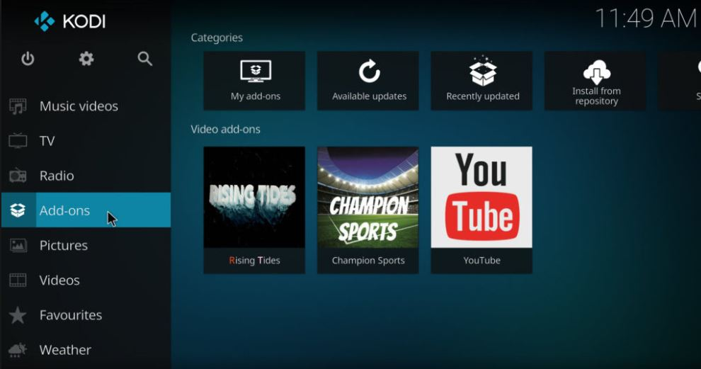 How to Install Kodi Rising Tides Addon