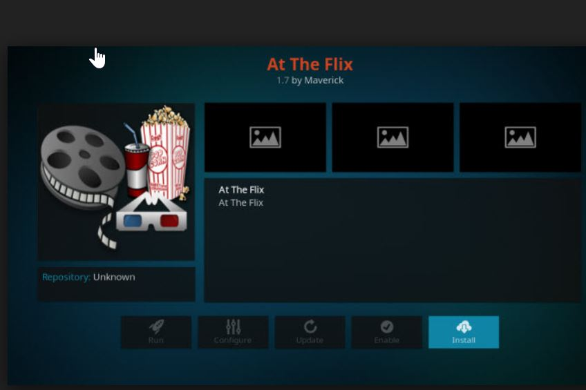 Kodi At the Flix addon