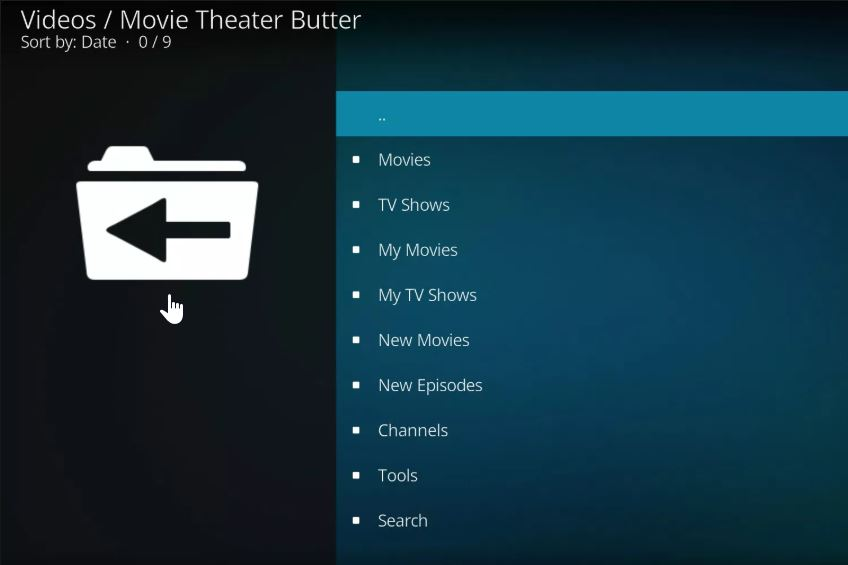 Kodi Movie Theater Butter addon