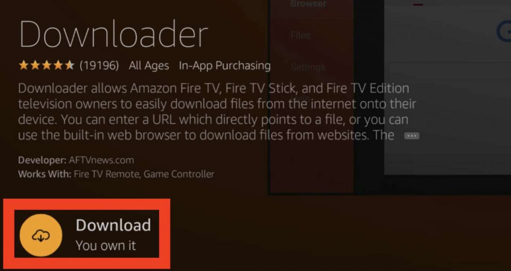 "Select the ""Download"" button to get Downloader"
