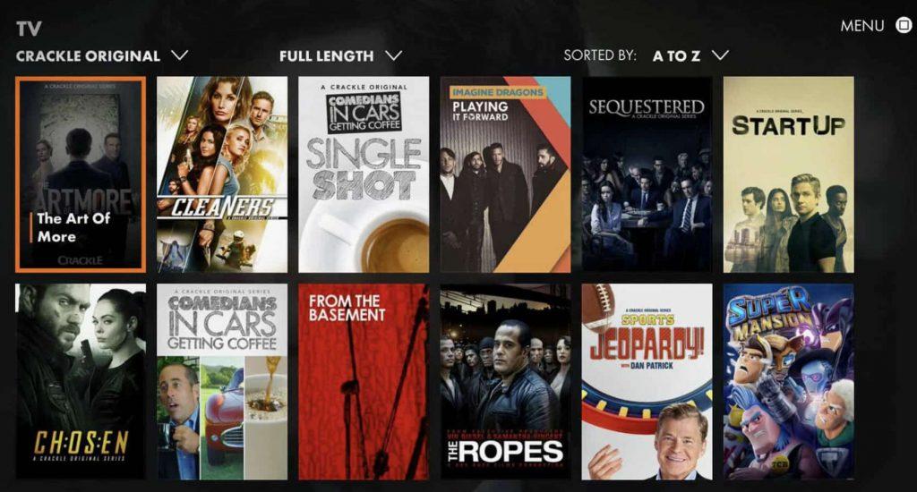 Crackle App for Live TV on Firestick