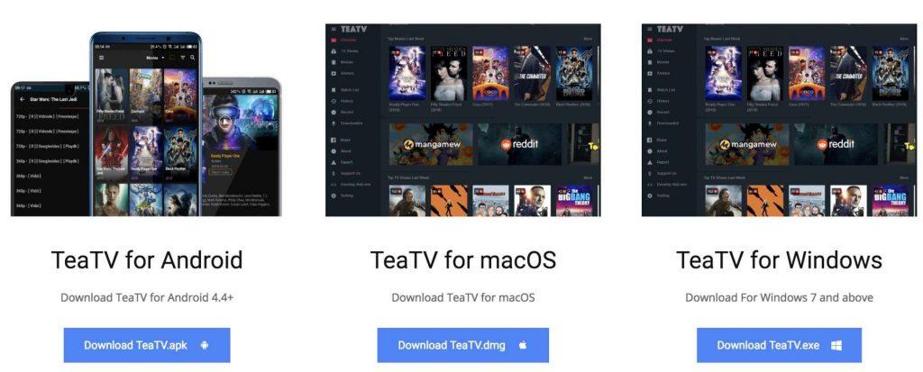 Tea TV Mac download