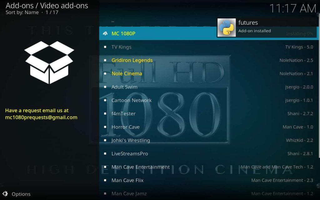 Kodi MC 1080p Addon