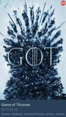 Select Game of Thrones