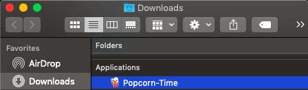 Open the Popcorn Time app for Mac
