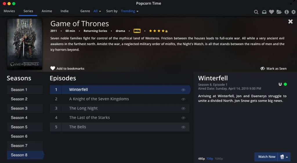 Watch Game of Thrones on Mac