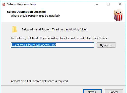 Install Popcorn Time on Windows PC