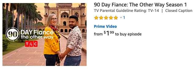 90 Day Fiance on Amazon
