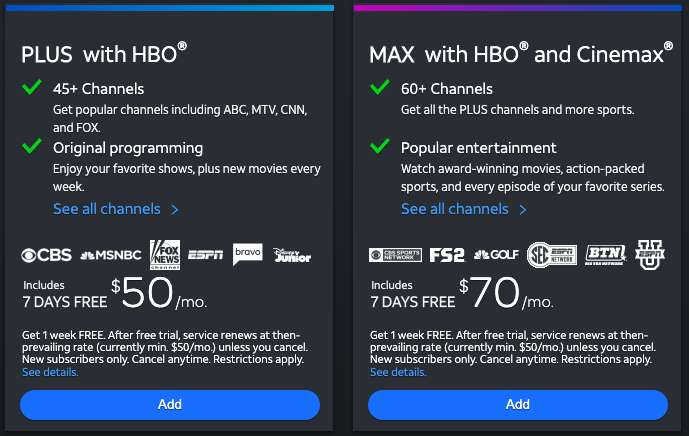 DirecTV 7 Day Free Trial