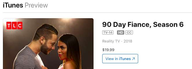 iTunes 90 Day Fiance