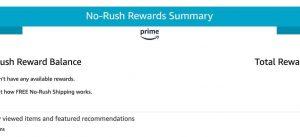 Check Amazon No Rush Shipping credit