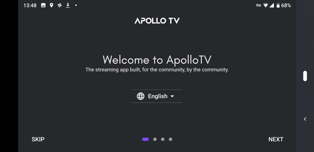 Apollo TV splashscreen