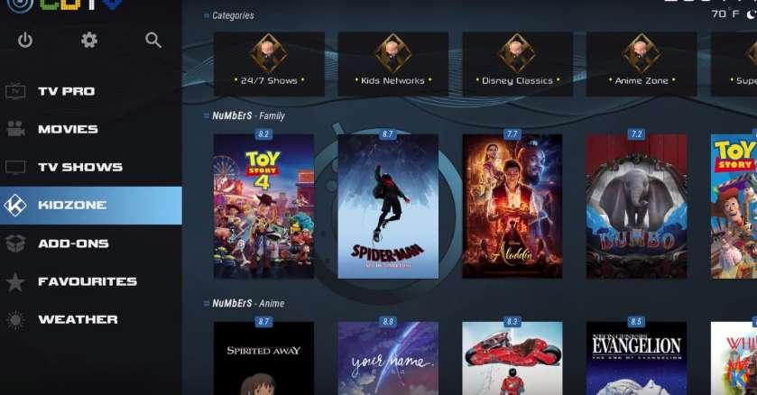 Kids movies in CDTV Wizard