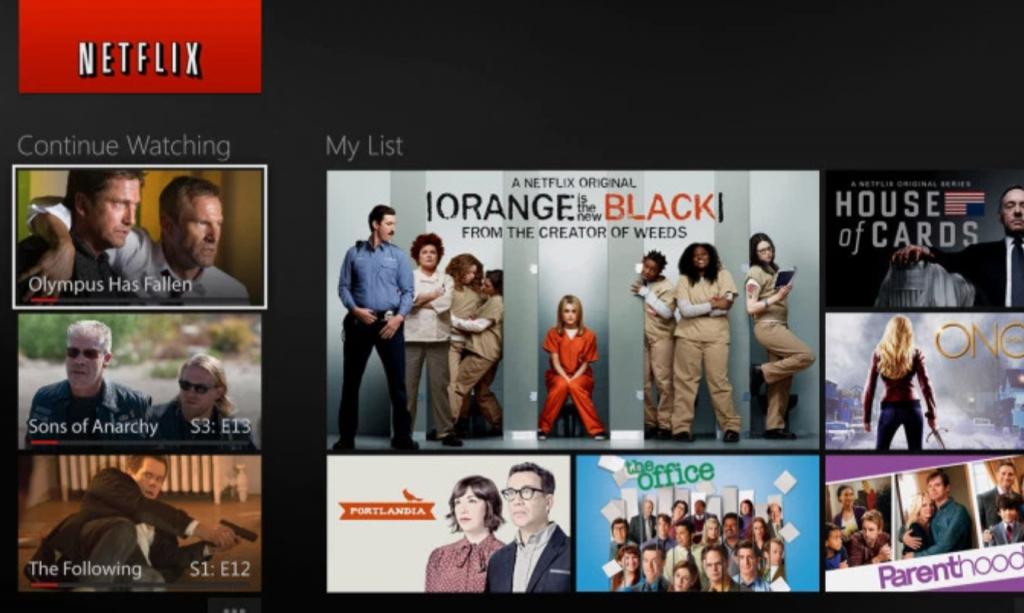 Xbox One Netflix app