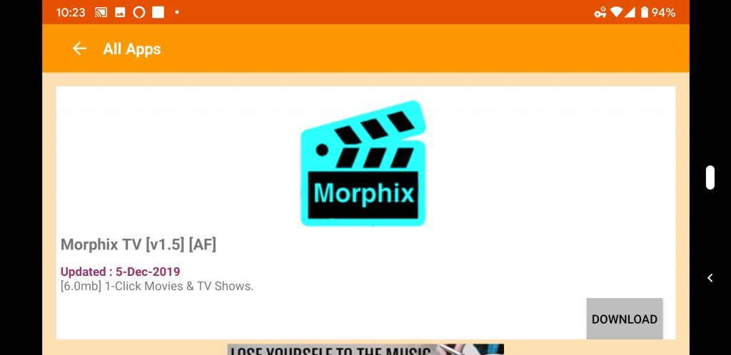 Morphix TV Firestick APK